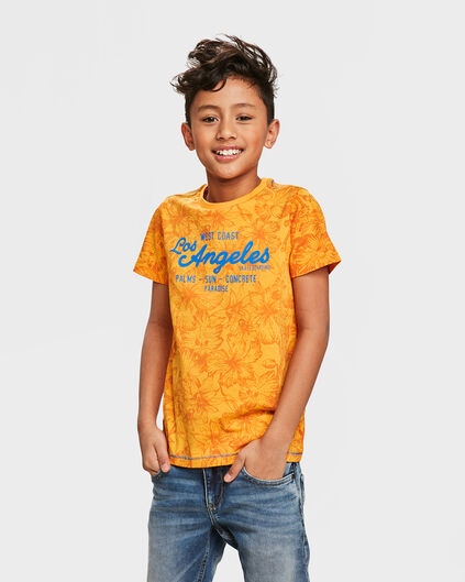 T-SHIRT FLOWER PRINTED GARÇON Orange