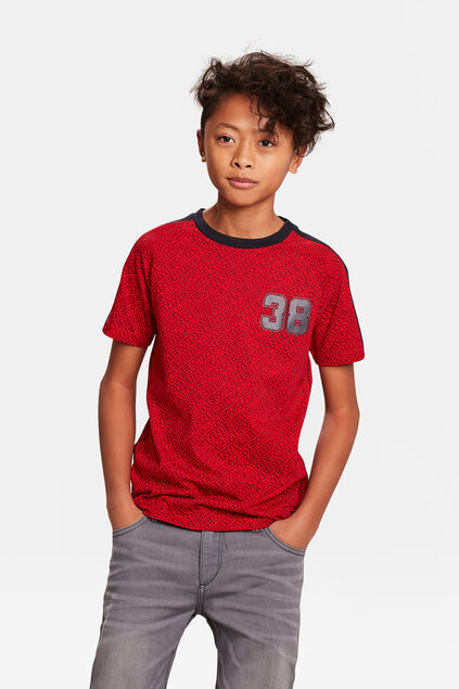 JONGENS GAME WINNER PRINT T-SHIRT Rood