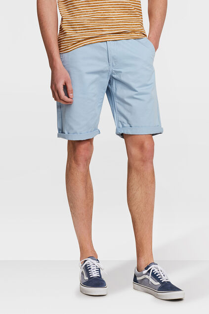 HEREN REGULAR FIT CHINO SHORT Lichtblauw