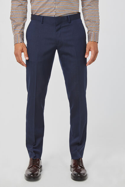 Heren slim fit pantalon, Tom Marineblauw