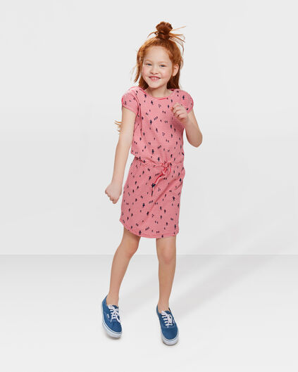 ROBE SEA HORSE PRINT FILLE Rouge