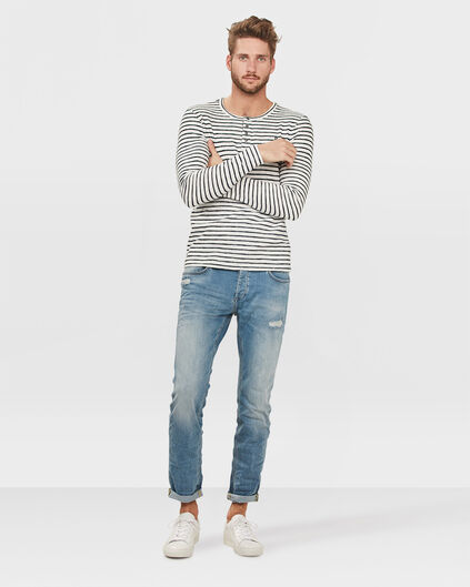 HEREN SLIM TAPERED SUPER STRETCH JEANS Lichtblauw