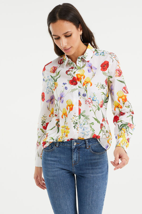Dames regular fit blouse Wit