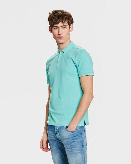 HEREN ORGANIC COTTON PIQUÉ POLO Mintgroen