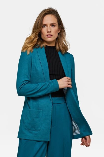DAMES REGULAR FIT MELANGE BLAZER Turquoise