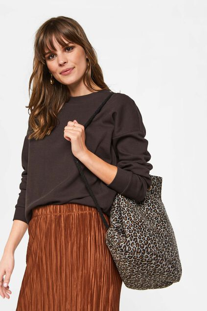 Dames rugtas met panterdessin All-over print