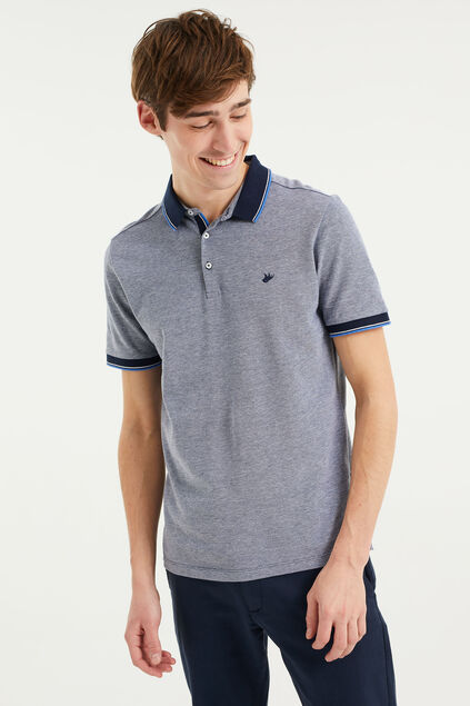 Polo slim fit homme Bleu marine