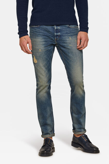 Heren slim tapered jeans Blauw