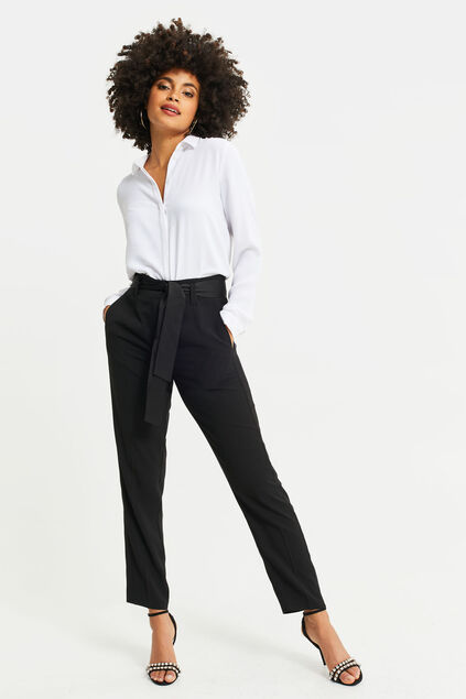 Dames solid blouse Wit