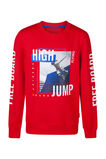 Jongens high jump sweater, Rood