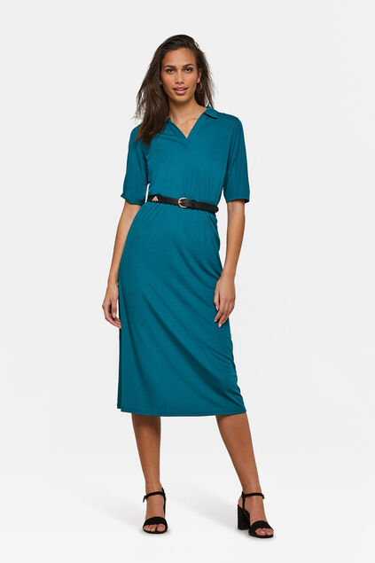Dames polo dress Turquoise