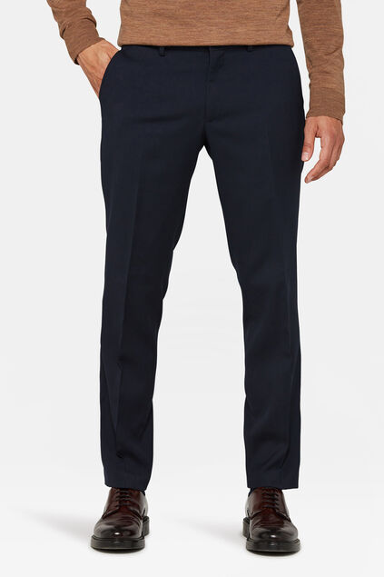 Heren regular fit pantalon, Dali Marineblauw