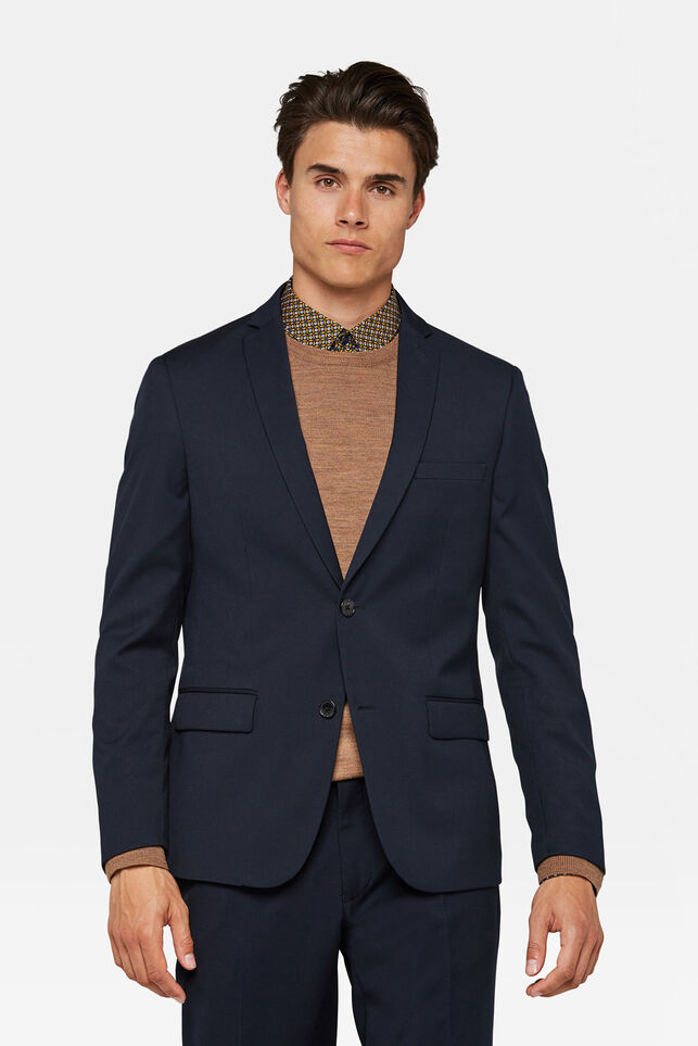 Heren regular fit blazer Dali Marineblauw