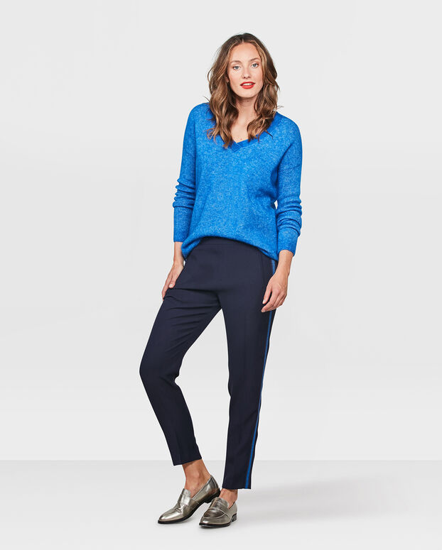 DAMES SLIM FIT STRIPE JOGGER Donkerblauw