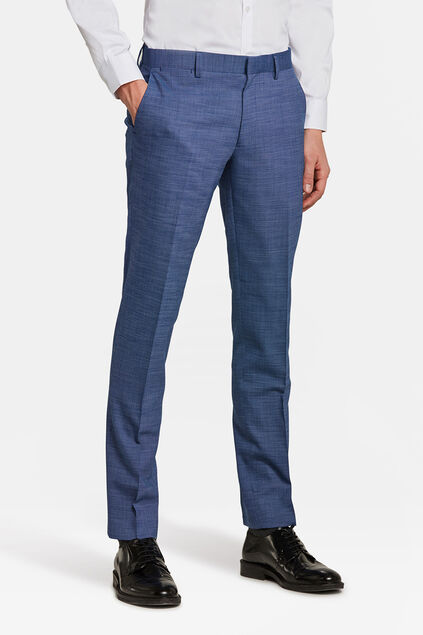 Heren slim fit pantalon Plano Blauw