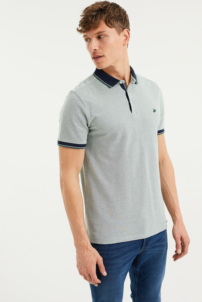 Polo slim fit homme Vert menthe