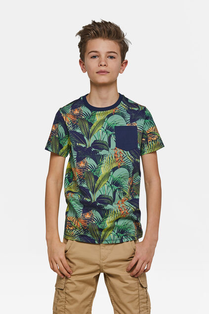 Jongens jungle T-shirt Groen
