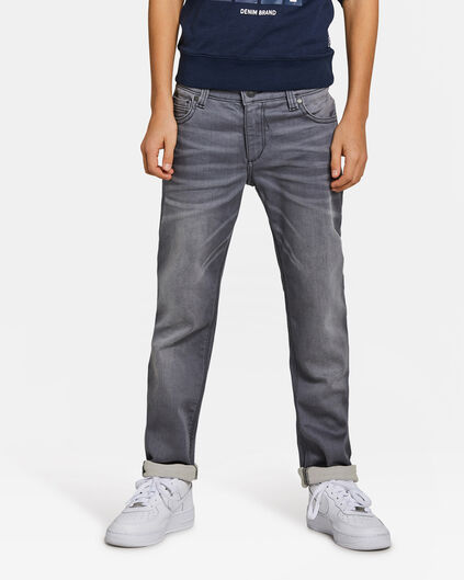 JONGENS SLIM FIT POWERSTRETCH JOG DENIM Grijs