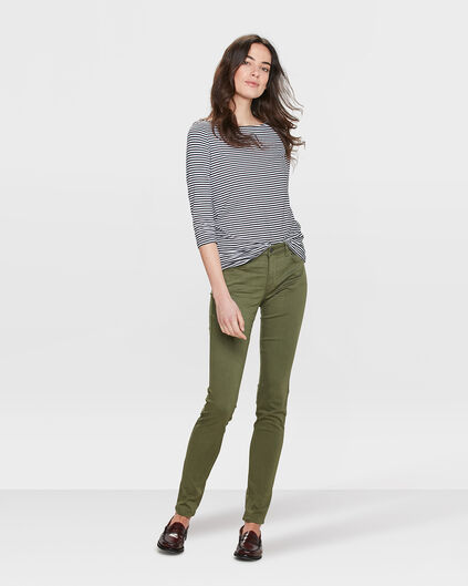 DAMES HIGH WAIST SKINNY HIGH STRETCH BROEK Legergroen