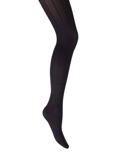 DAMES HERRINGBONE 60 DEN TIGHTS Zwart