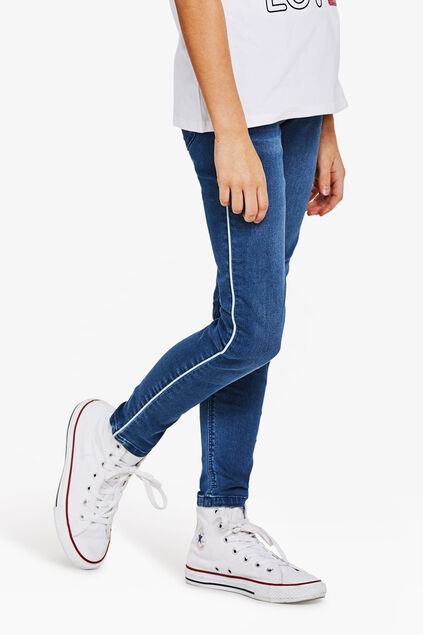Jeggings super skinny power stretch fille Bleu