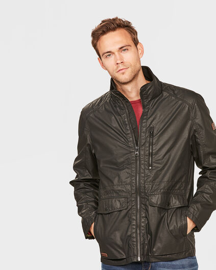 HEREN COATED JACKET Zwart