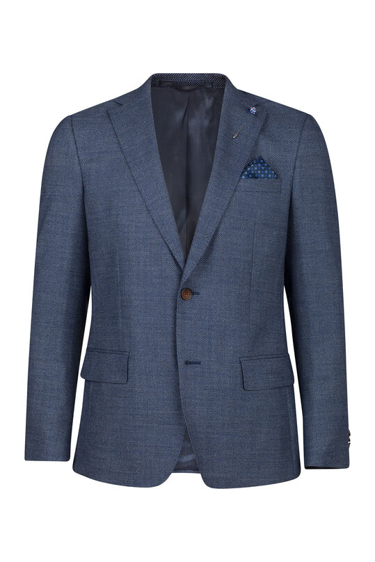 Heren regular fit blazer corvallis Marineblauw
