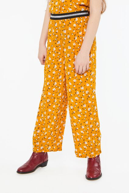 Pantalon loose fit à motif fille Imprimé