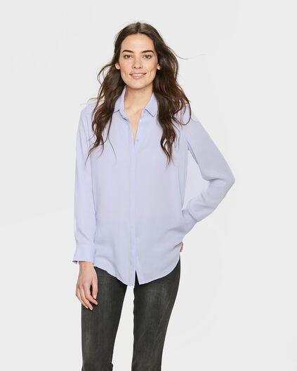 CHEMISIER SLIM FIT SILKY FEMME Violet clair