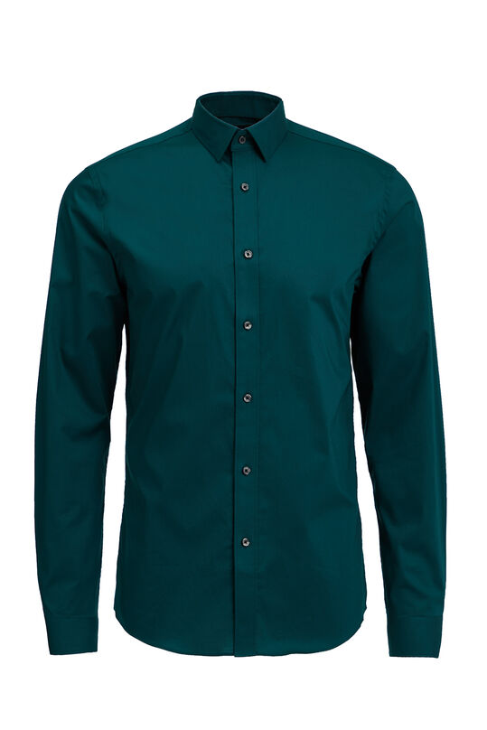 Chemise slim fit stretch homme Vert mousse