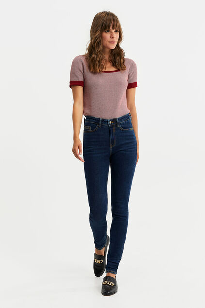Dames high rise skinny jeans Donkerblauw