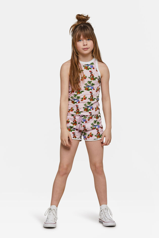 Girls Hawai short Lichtroze