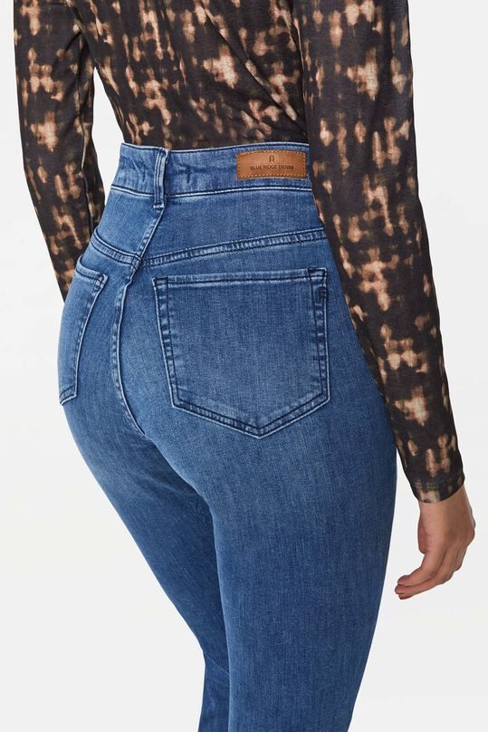 Dames curved skinny jeans Blauw