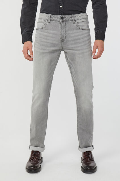 Jeans regular stretch confort homme Gris clair