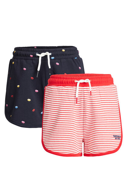 Short sweat à imprimé fille, pack de 2 Multicolore