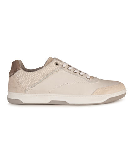 HEREN REAL LEATHER SNEAKERS Lichtgrijs