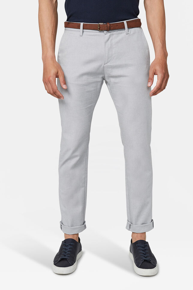 Chino skinny fit homme Gris clair