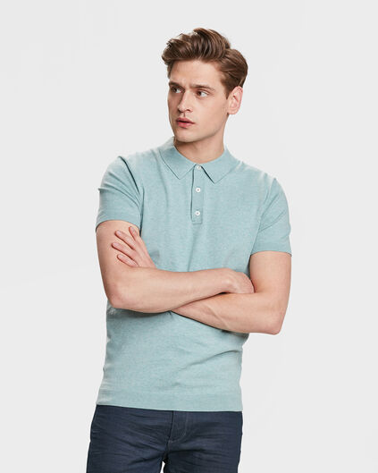 POLO FINE KNIT HOMME Vert menthe