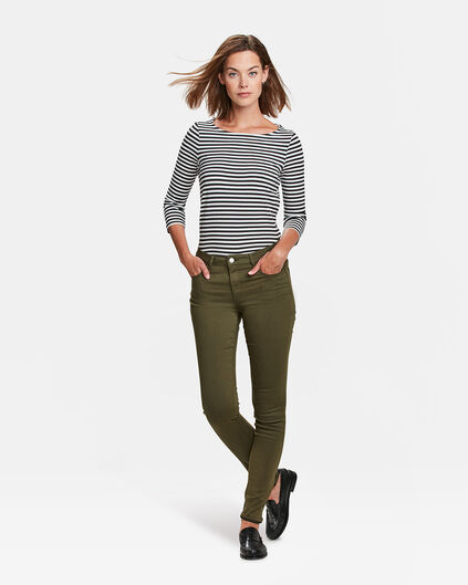 DAMES HIGH WAIST SKINNY HIGH STRETCH BROEK Olijfgroen