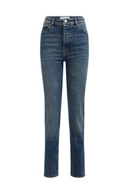 Dames mom fit jeans met stretch_Dames mom fit jeans met stretch, Blauw