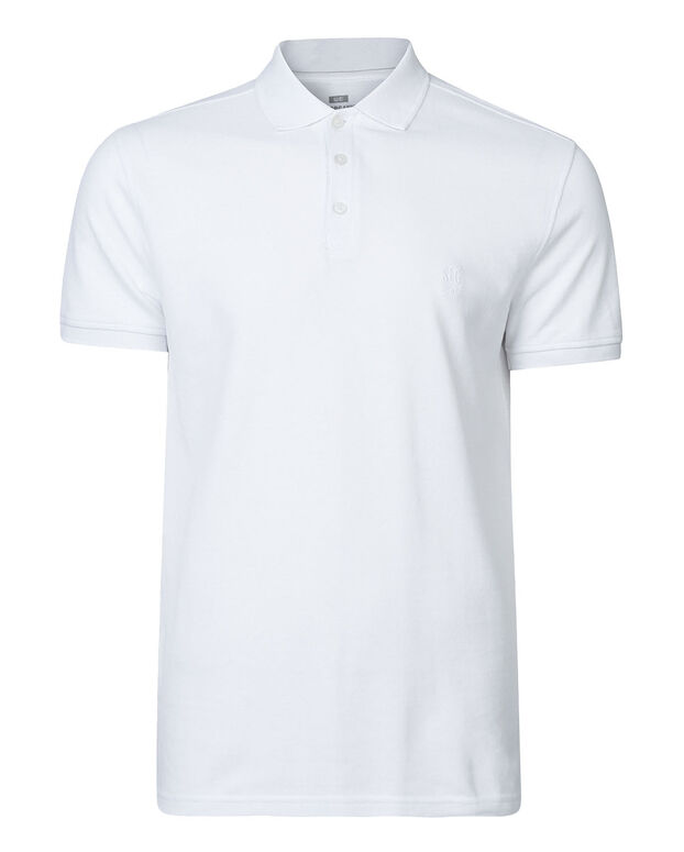 HEREN ORGANIC COTTON piqué  POLO Wit