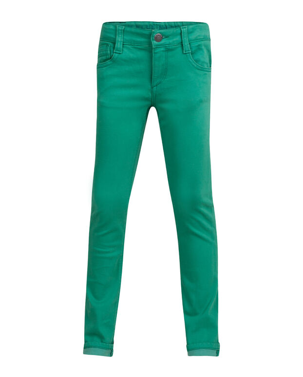 PANTALON SUPER SKINNY POWER STRETCH GARMENT DYED GARÇON Vert