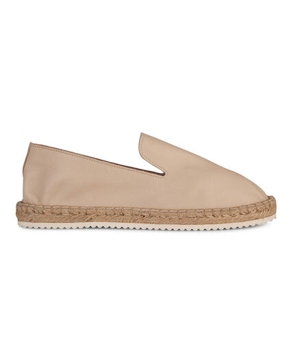 DAMES REAL LEATHER ESPADRILLES Gebroken wit