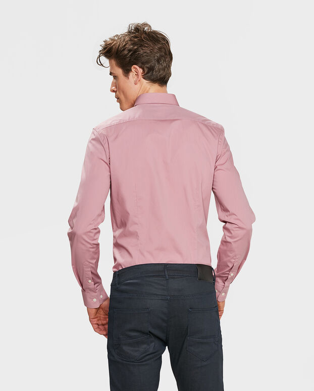 HEREN SLIM FIT STRETCH OVERHEMD Lichtroze