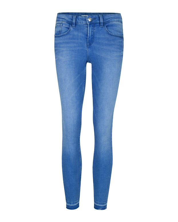 DAMES MID RISE SUPER SKINNY HIGH STRETCH JEANS Felblauw