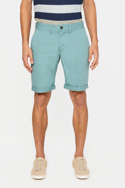 Short chino slim fit homme Vert gris