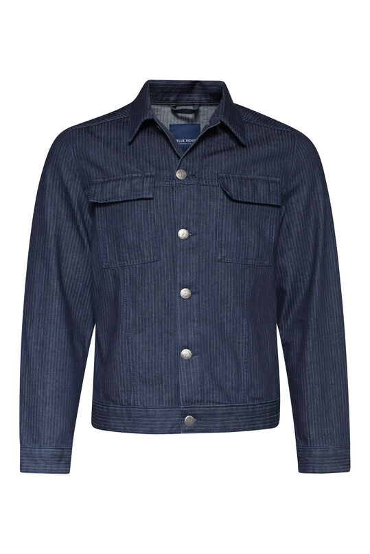Heren denim jacket Donkerblauw