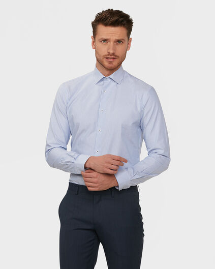 HEREN SLIM FIT FINEST COTTON OVERHEMD Lavendel