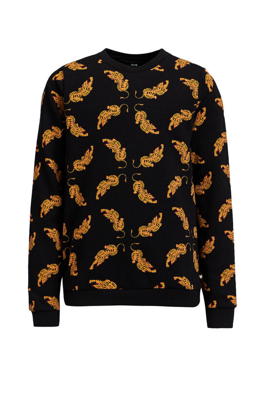 Meisjes sweater met dierendessin All-over print
