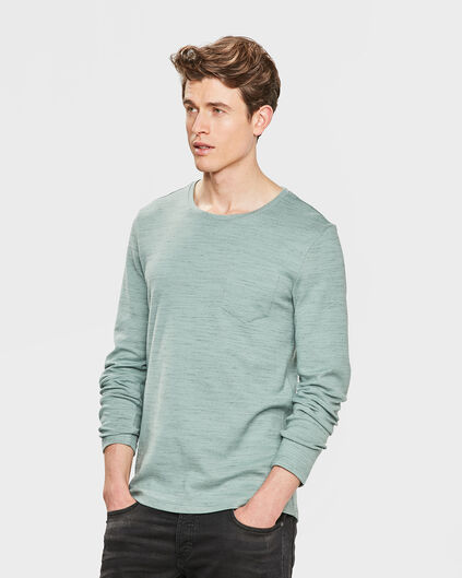 HEREN COTTON BLEND SHIRT Mintgroen